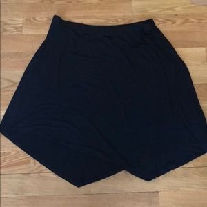 Plus Size Eileen Fisher Black Asymmetrical Skirt
